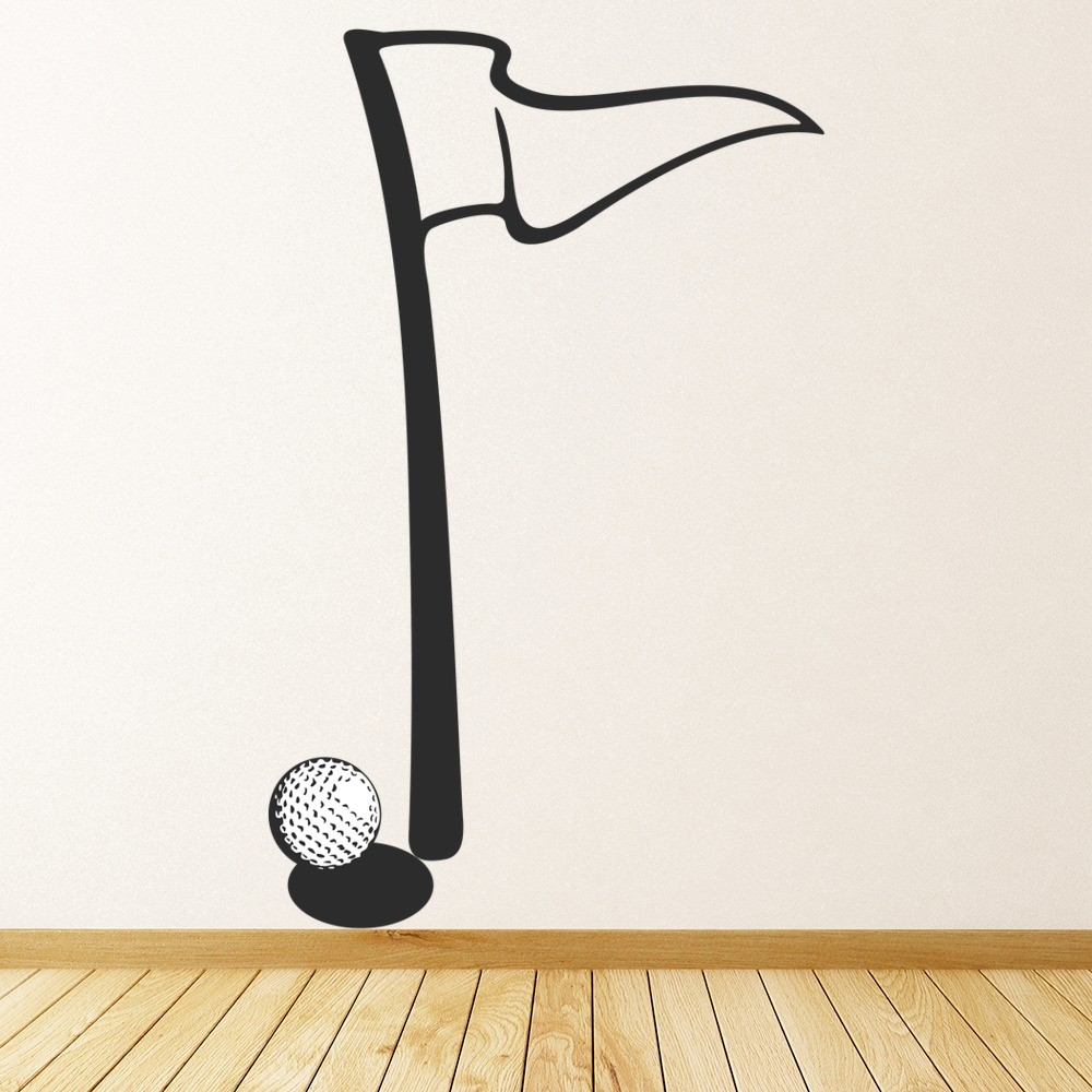 Golf flag wall sticker sport wall art amipublicfo Gallery