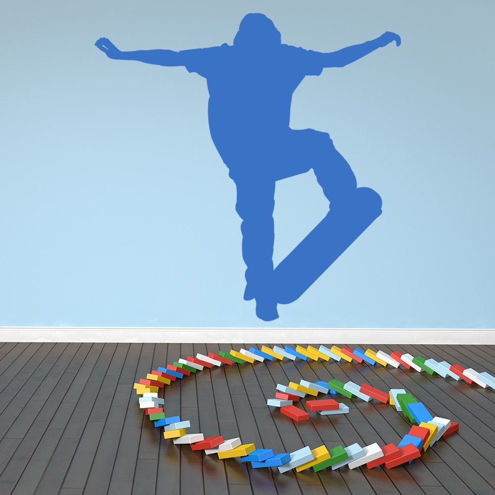 Bedroom Wall Art Uk Art For Bedroom Wall Bedroom Wall Decor For Teenagers Boy Bedroom For Baby Boy: Skateboard Trick Wall Stickers Sports Wall Art
