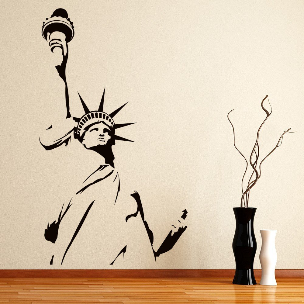 Statue Of Liberty Outline New York America USA Wall Sticker Home Decor Art  Decal Good Ideas