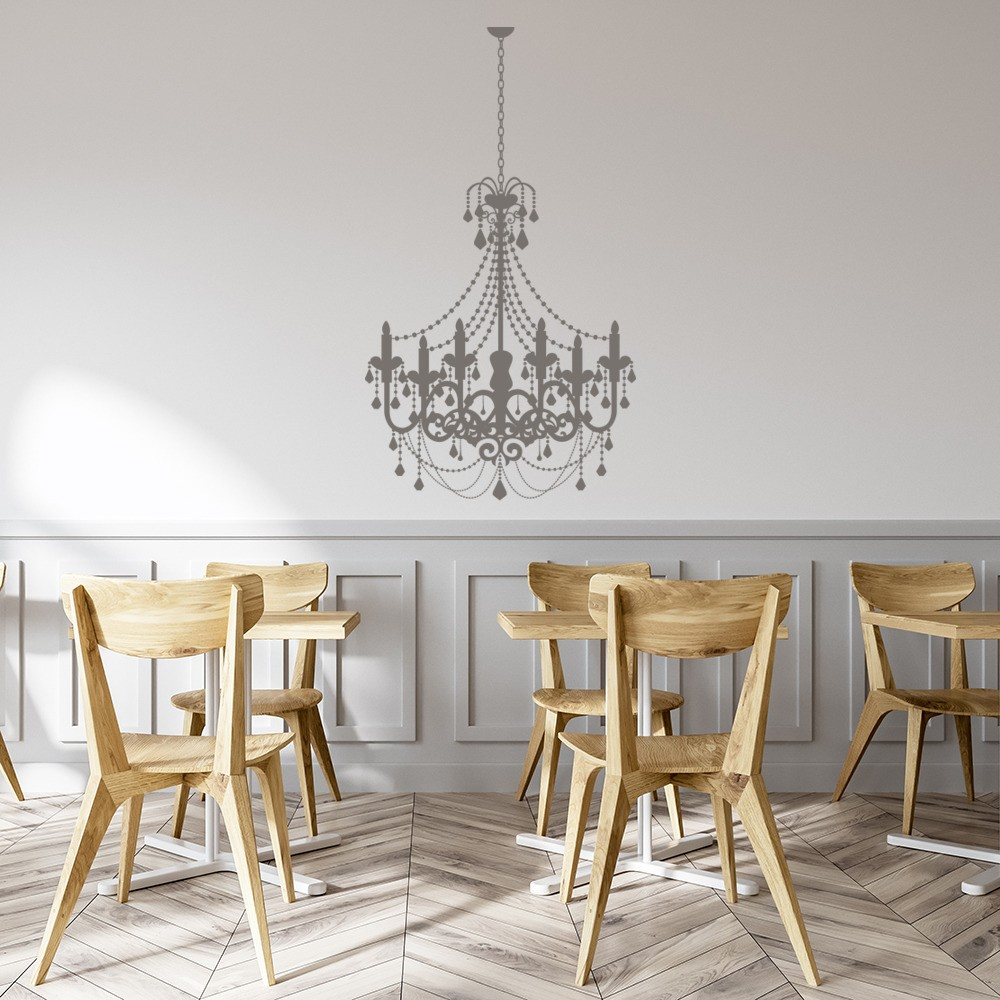 Gentil Elegant Chandelier Wall Sticker Dining Room Wall Decal Vintage Home Decor