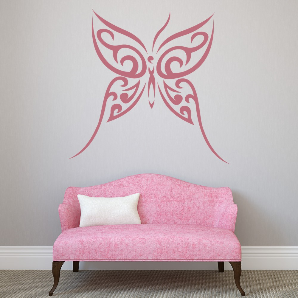 Butterfly wall sticker tribal wall decal girls bedroom home decor