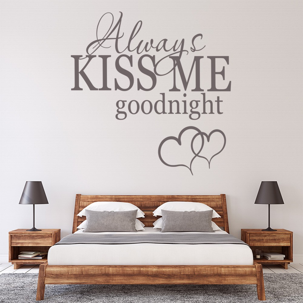 Always Kiss Me Goodnight Kitchen Love Quotes Wall Stickers Home Decor Art  Decals Part 81