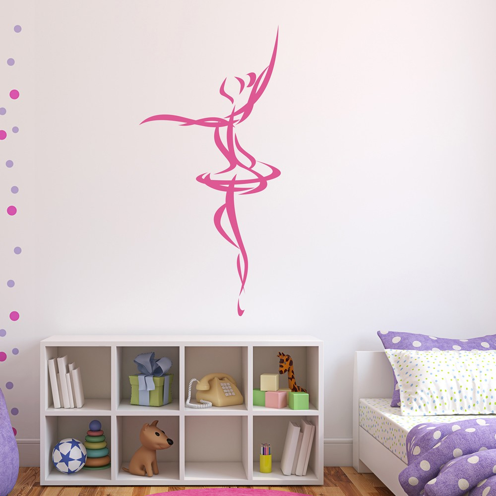 Dance wall stickers iconwallstickers ballet dancer abstract ballerina dancing wall stickers sports decor art decals amipublicfo Gallery