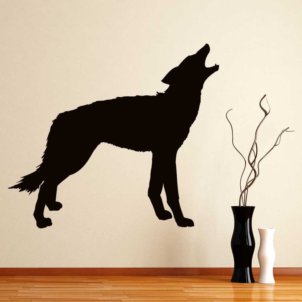 Wolf Silhouette Wall Sticker Animal Wall Art