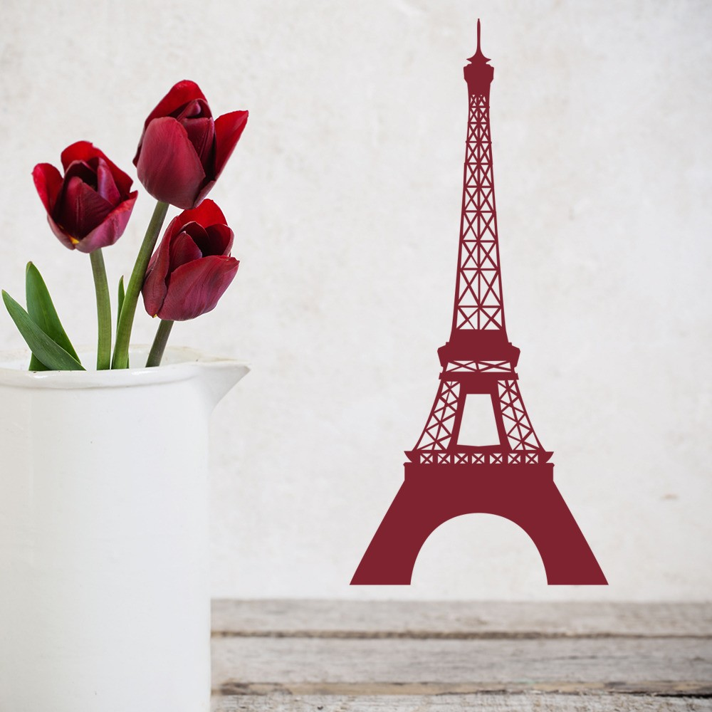 Paris Landmark Wall Sticker Eiffel Tower Wall Decal Living Bedroom Home  Decor
