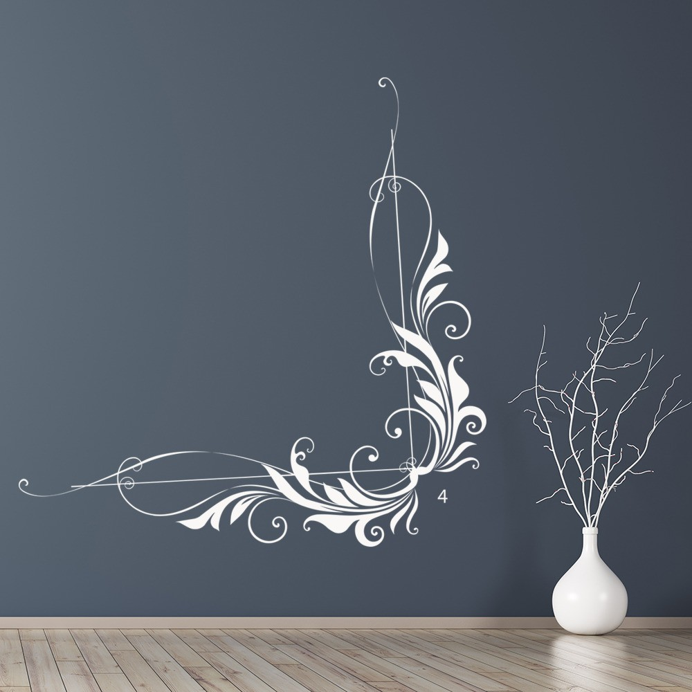 Curved Vine Leaf Corner Wall Sticker