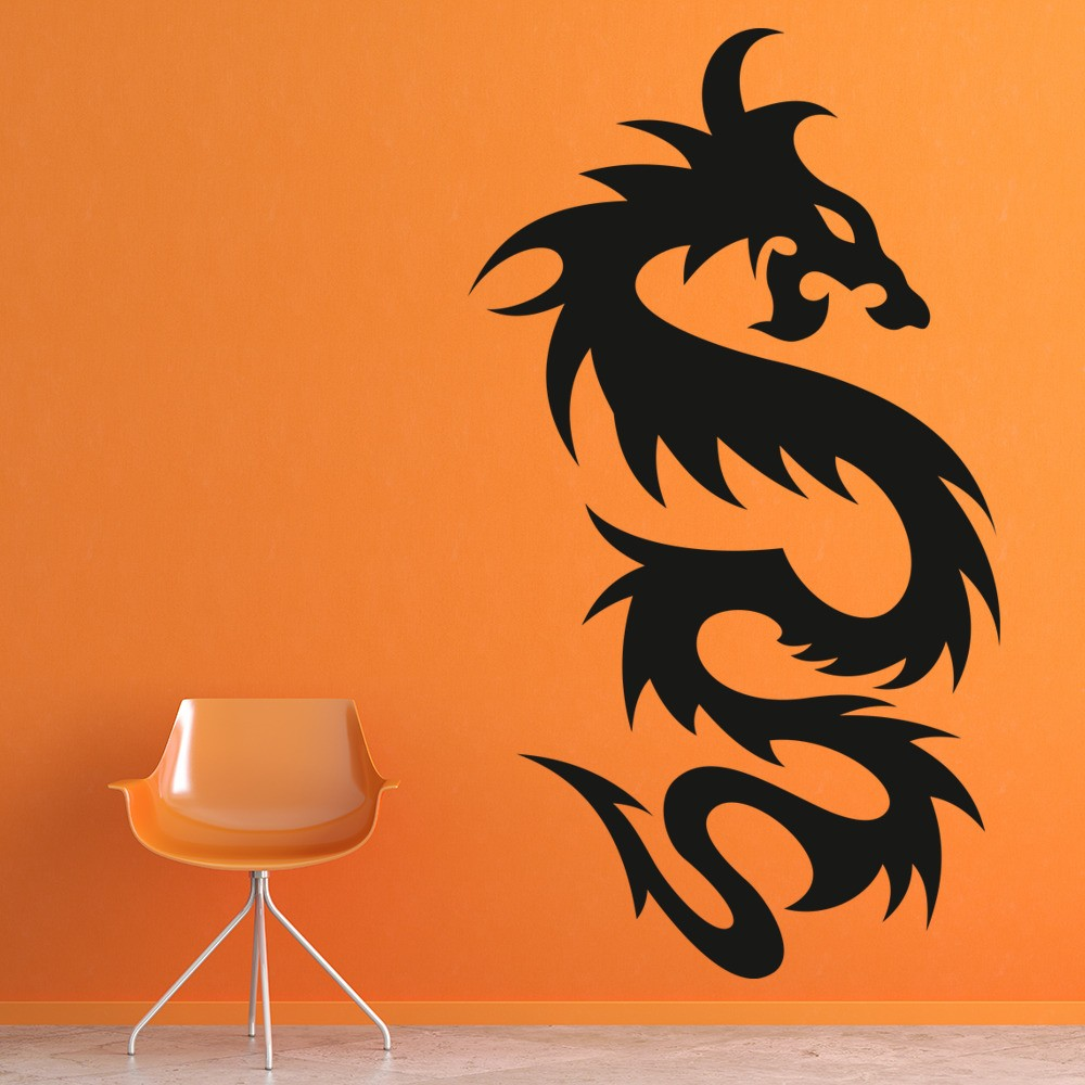 Chinese Dragon Wall Sticker Fantasy Monster Wall Decal