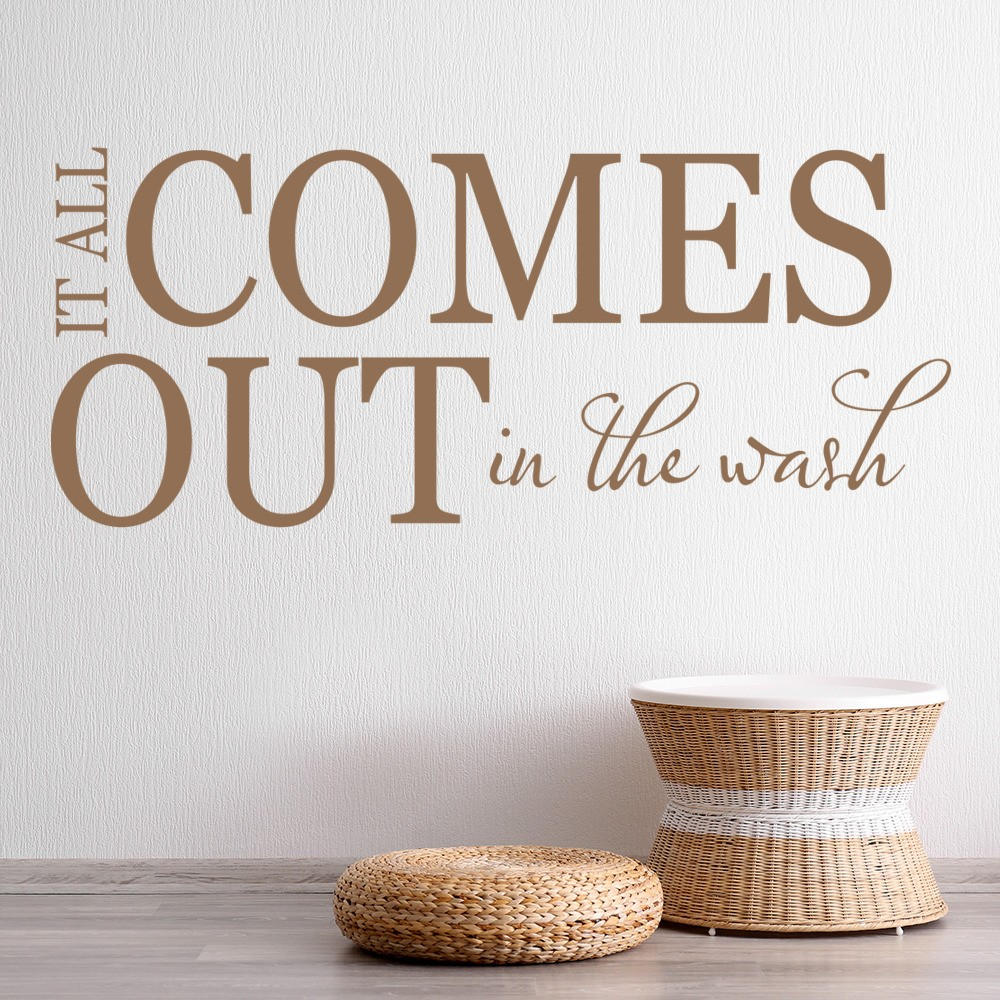 it all comes out in the wash quote bathroom wall stickers bathroom art decals