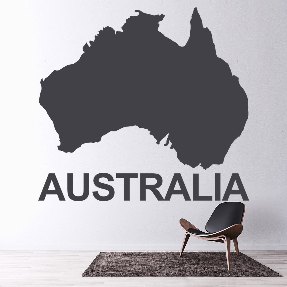 australia map wall sticker