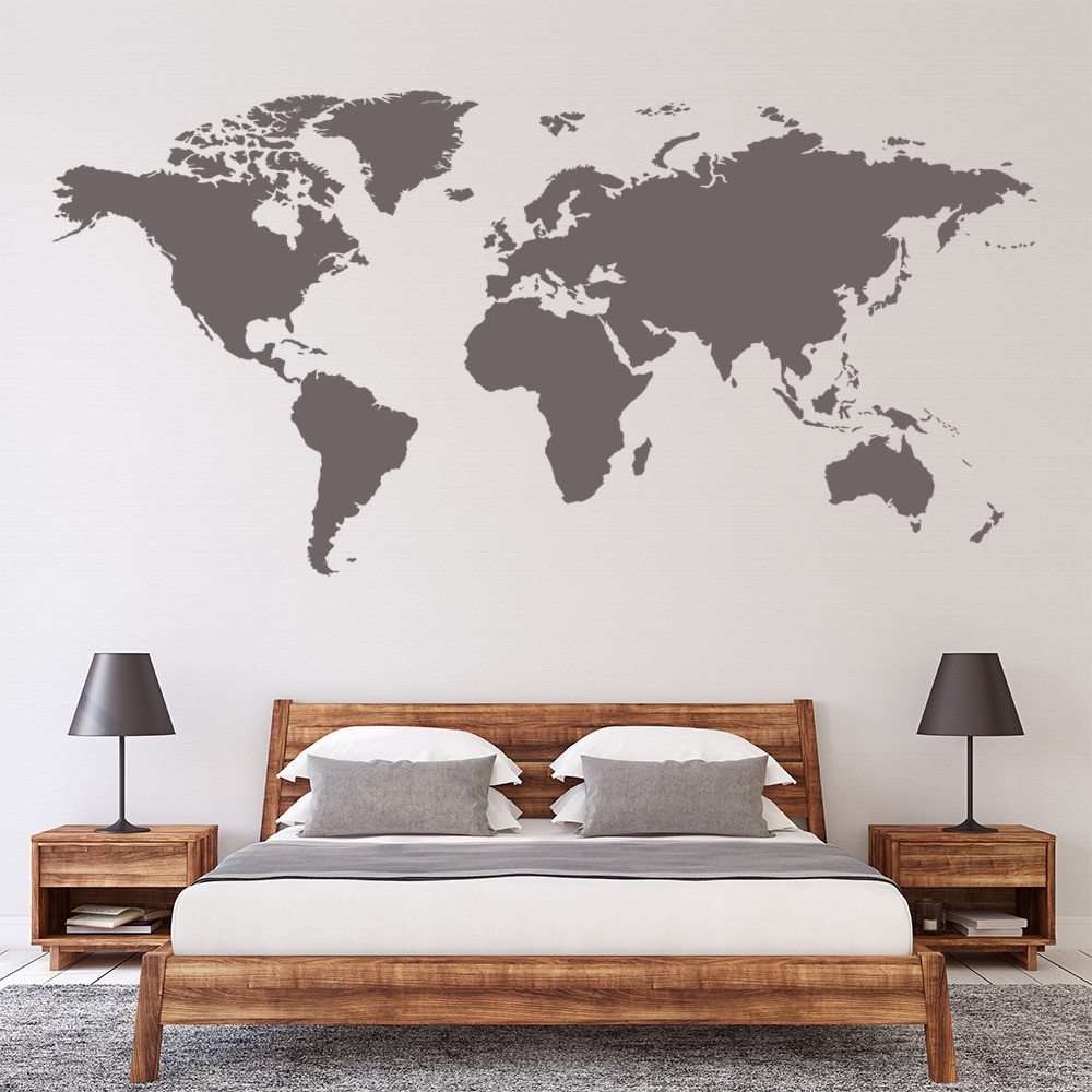 World map wall sticker educational wall decal office bedroom ws 16254 01g gumiabroncs Choice Image