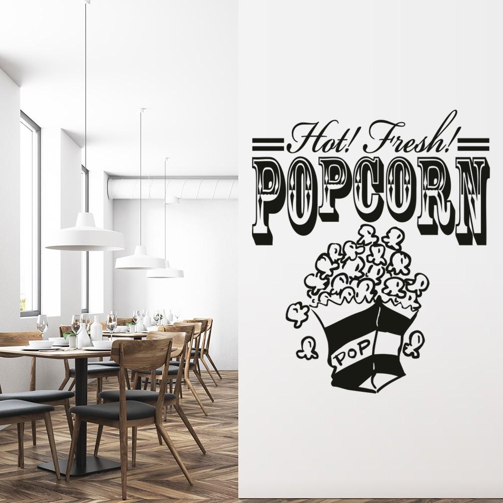 Hot Fresh Popcorn Wall Sticker Food Wall Art