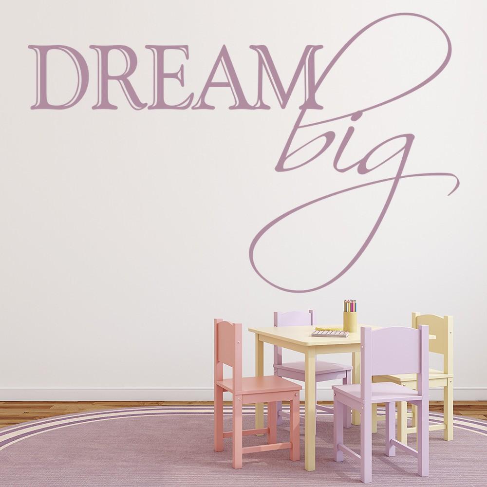 Dream Big Wall Sticker Girls Bedroom Wall Decal Teenager Home Decor