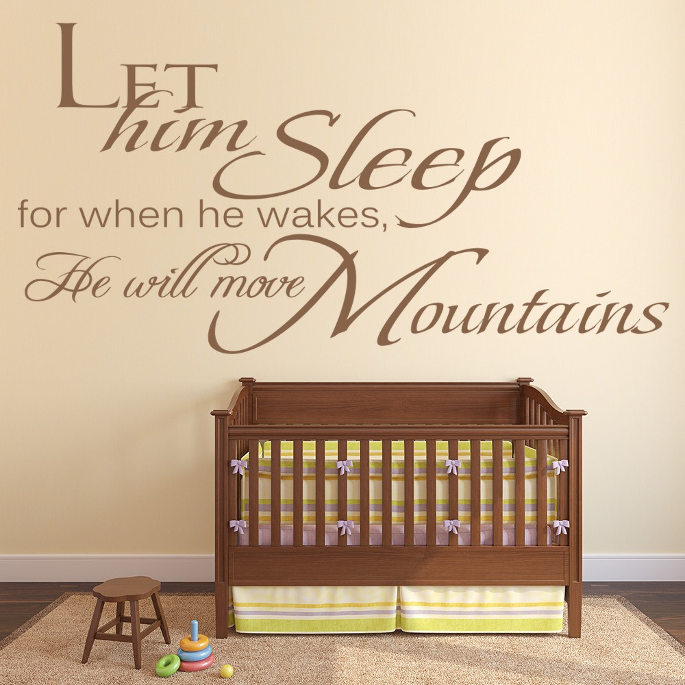 Boy S Bedroom With Feature Wall: Let Him Sleep Wall Sticker Boy's Bedroom Wall Art