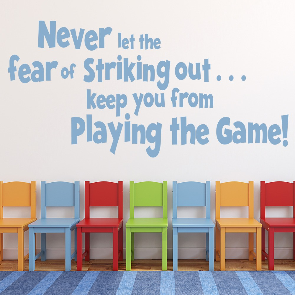 Never Let The Fear Wall Sticker Inspirational Quote Wall Decal Bedroom Decor