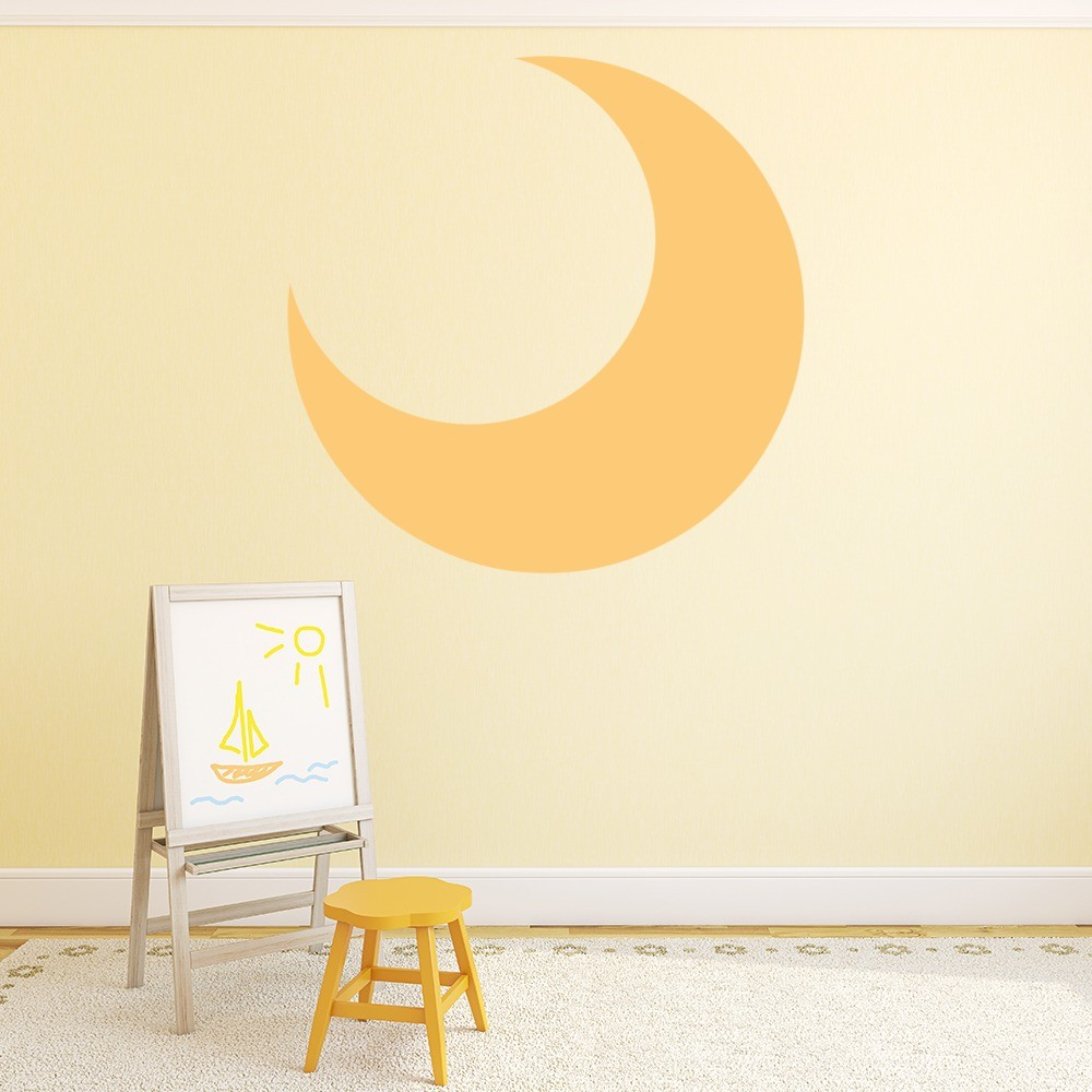 crescent moon wall sticker nursery wall decal childrens bedroom home decor. Black Bedroom Furniture Sets. Home Design Ideas