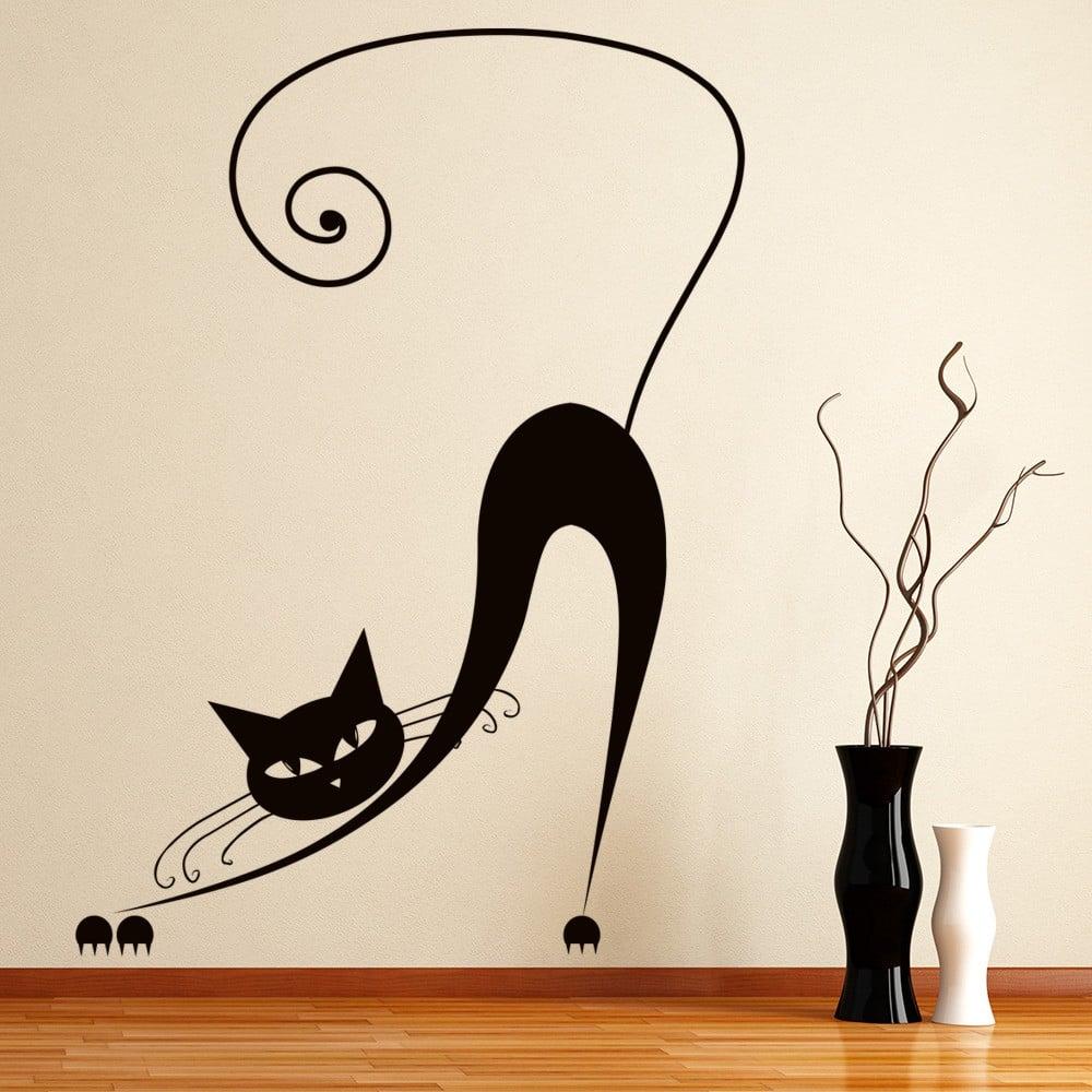Stretching Siamese Cat Cartoon House Cats Wall Sticker Pets Home Decor Art  Decal