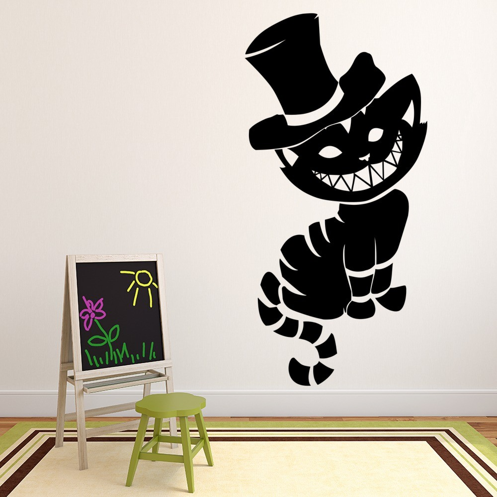 Cheshire Cat Wall Sticker Fairytale Fantasy Wall Decal