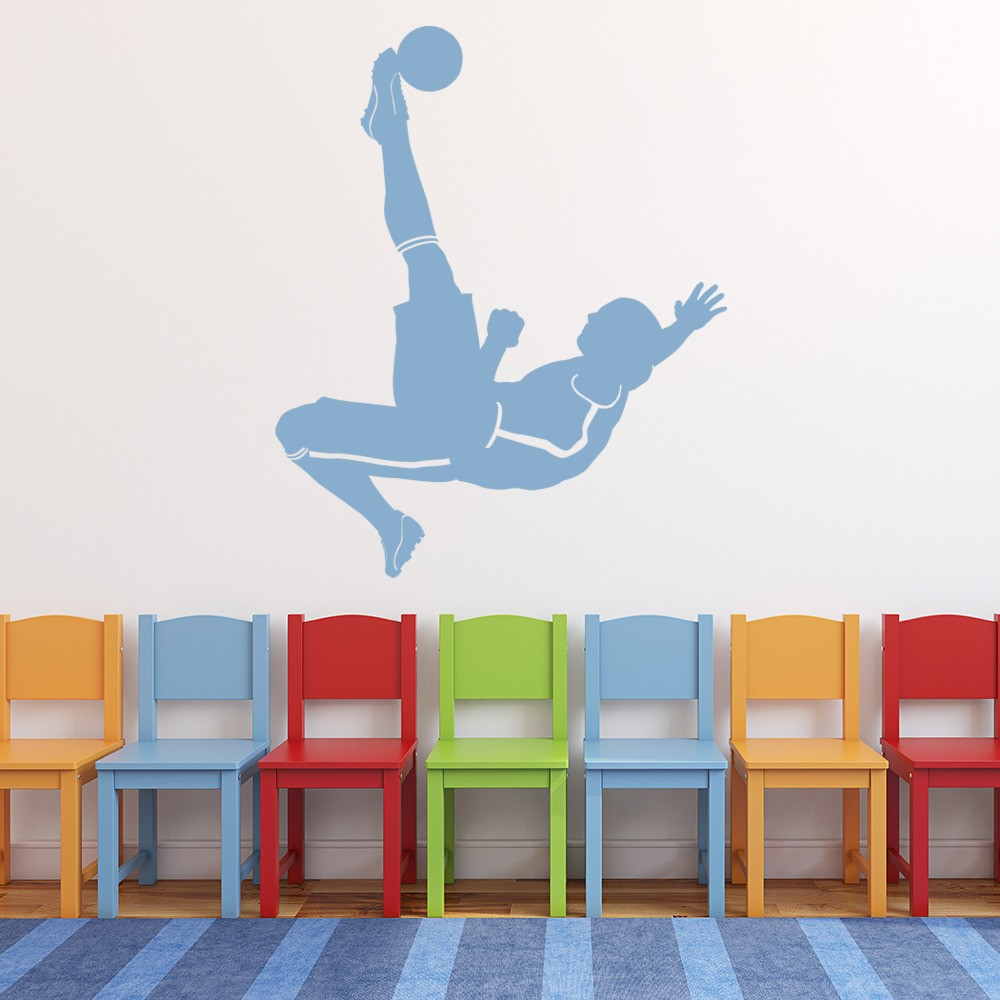 Football wall stickers iconwallstickers football kick player ball goal football wall stickers sports decor art decals amipublicfo Gallery