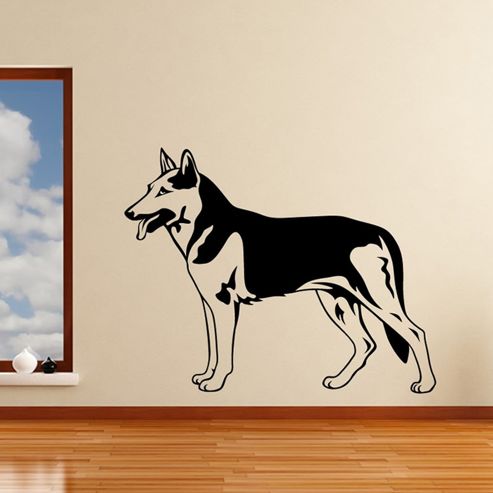 German Shepherd Dog Wall Sticker Pets Dogs Wall Decal Kids