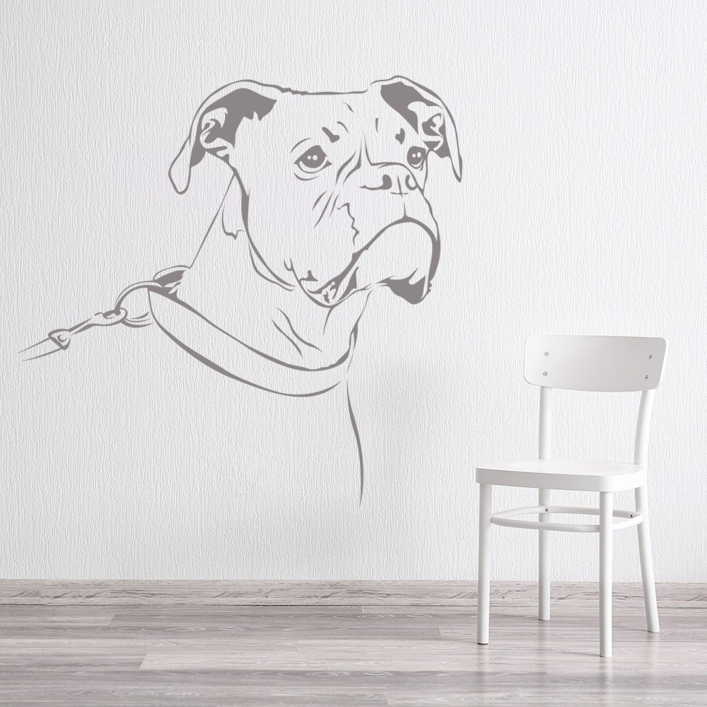 Boxer Dog Wall Sticker Pet Animals Wall Decal Canine Kids