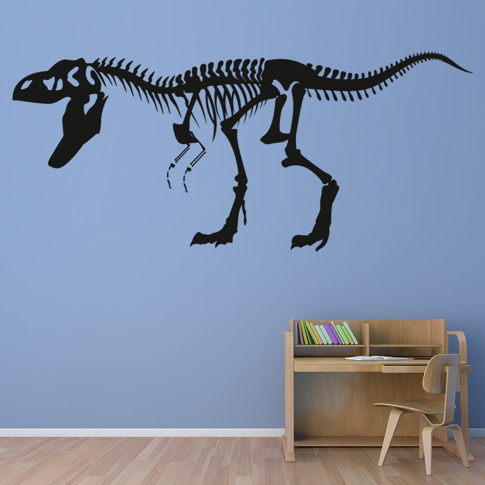 T Rex Skeleton Wall Sticker Fossil Dinosaur Wall Decal Kids Bedroom Home  Decor