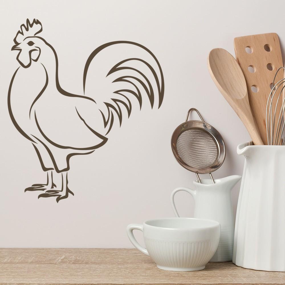 Chicken Wall Sticker Farm Bird Animals Wall Decal Kitchen Home Decor