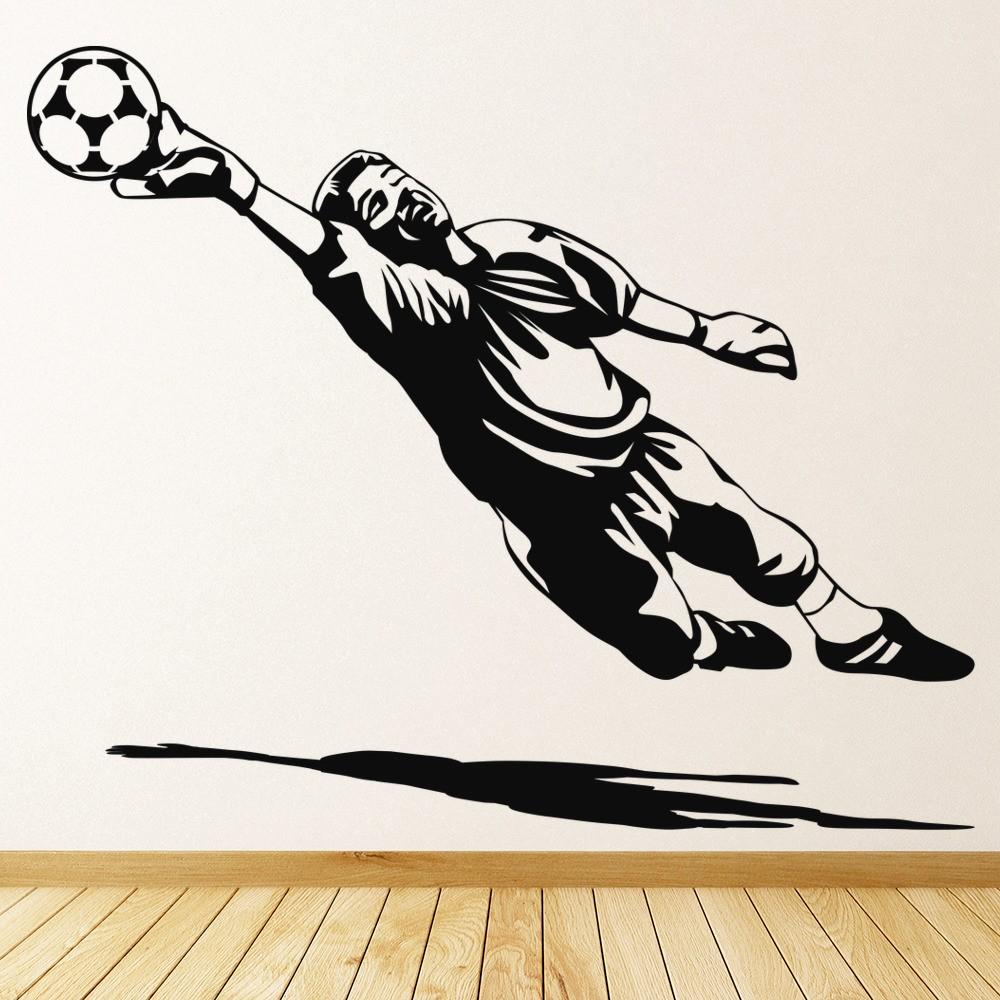 Football Goalkeeper Wall Decal Goalkeeper Keeper Sport//Colour and Size Choice