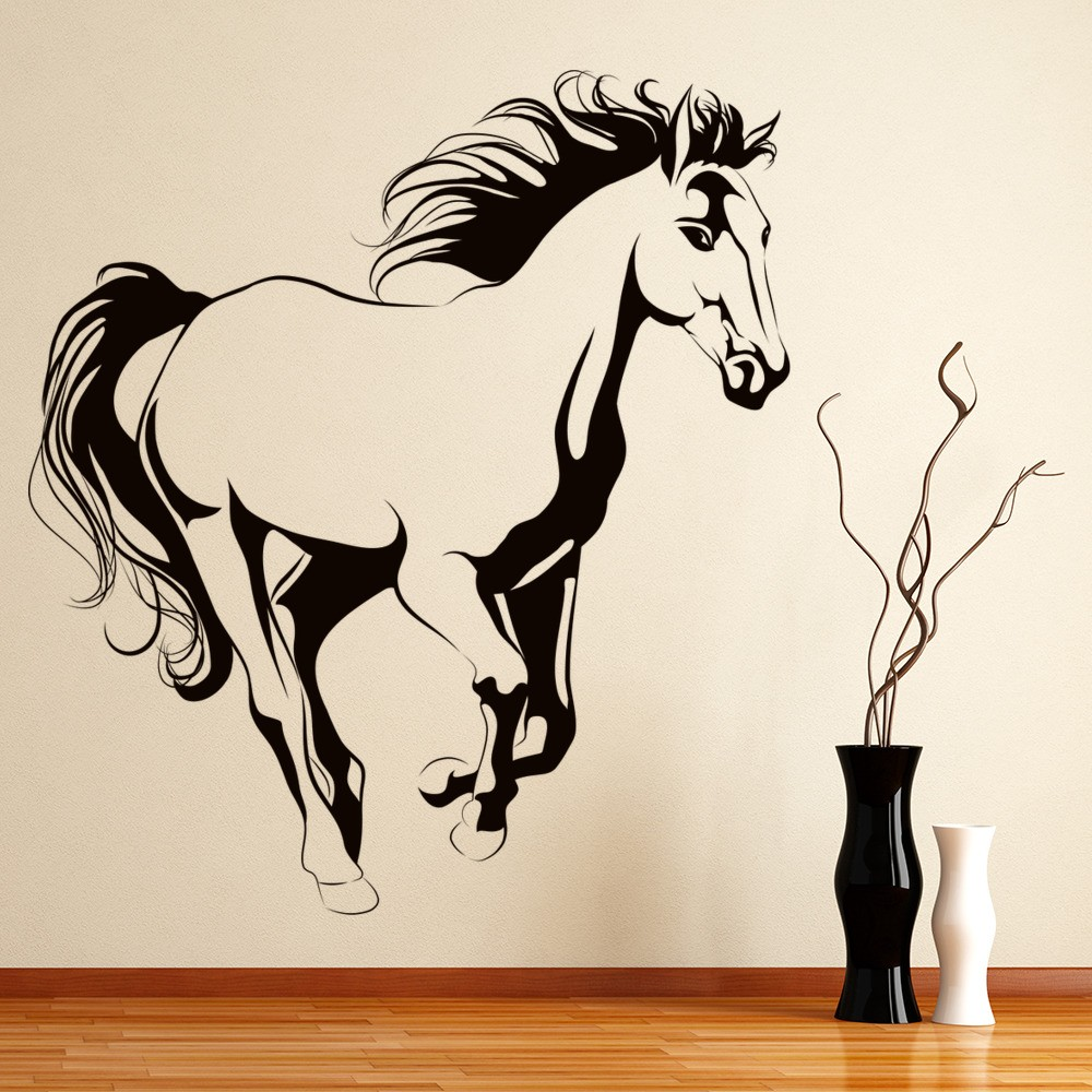 Horse Wall Sticker Animals Farm Wall Decal Girls Bedroom