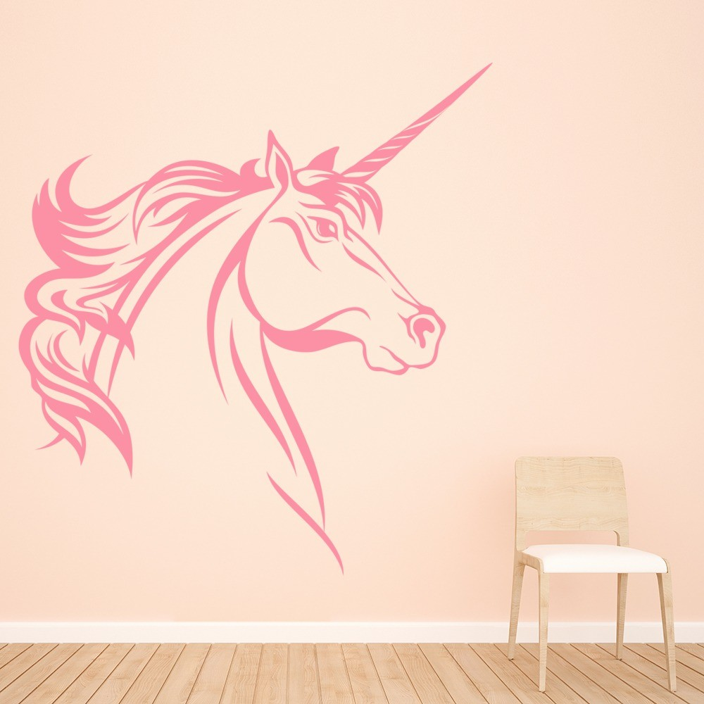 Unicorn Wall Sticker Girls Bedroom Wall Decal Fantasy Home