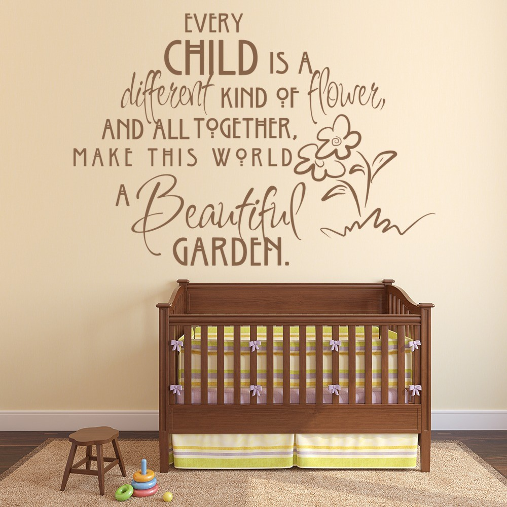 Beautiful Garden Wall Sticker Nursery Quote Wall Decal