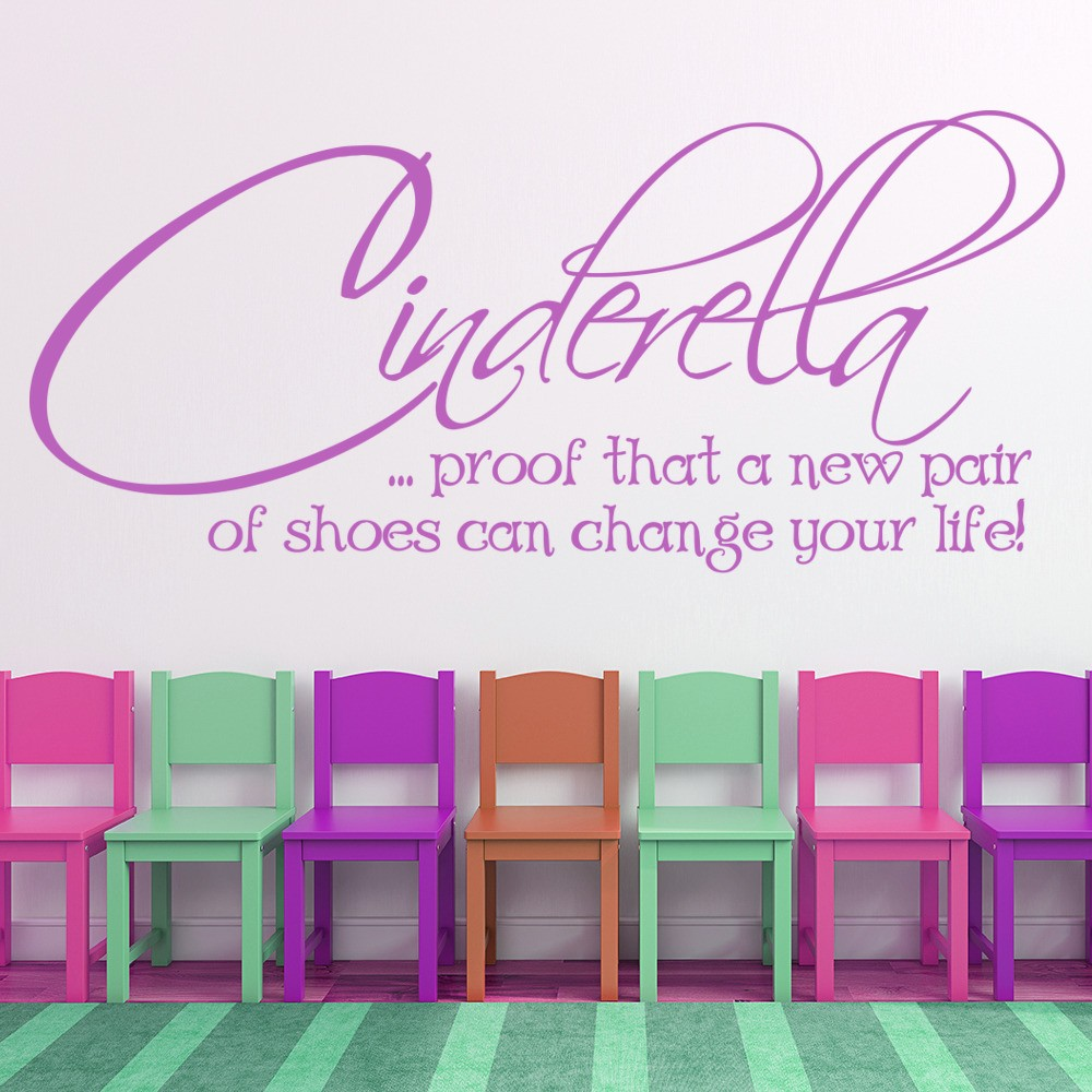 fashion quotes life inspirational wall quotes cinderella funny motivational life and inspirational quote wall stickers decals