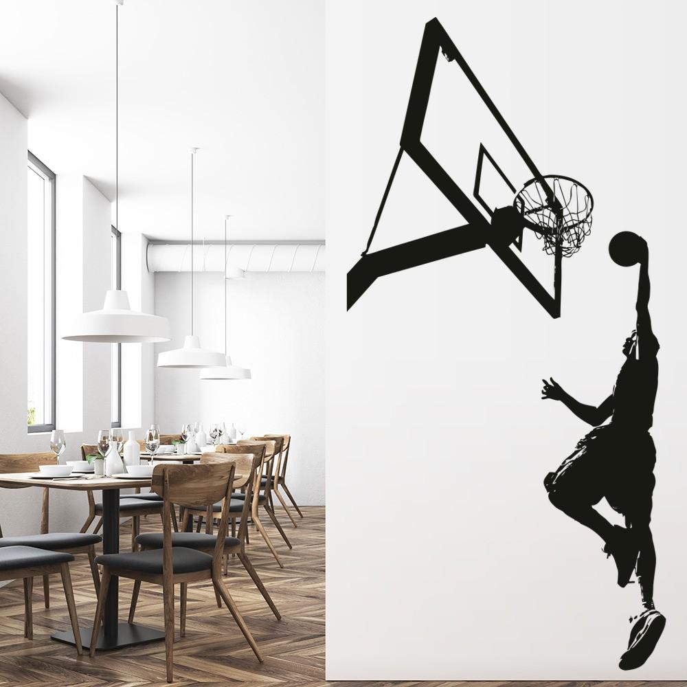 Basketball slam dunk wall sticker sport wall art for Decoration murale scrabble