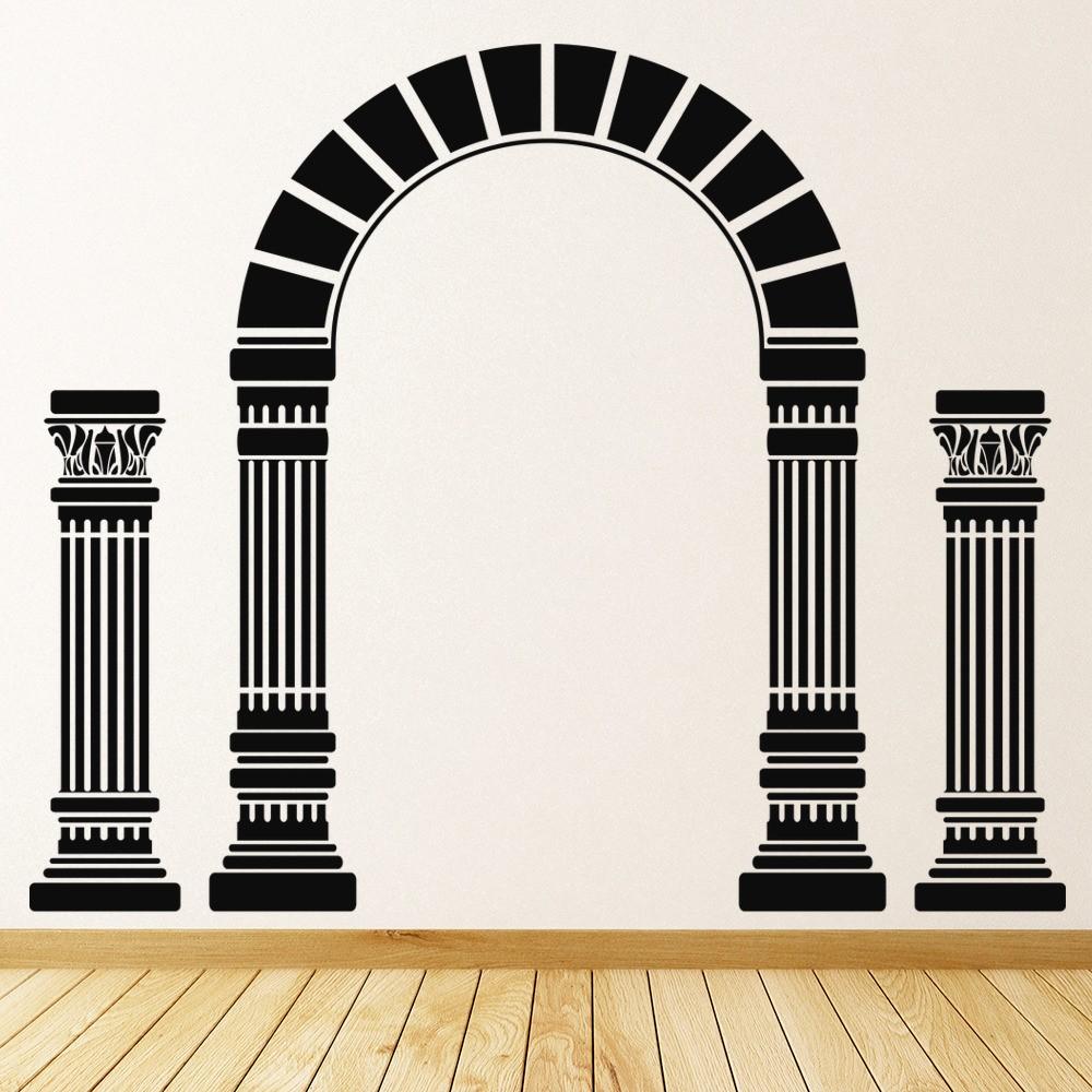 Arch And Columns Wall Sticker Greek Wall Art