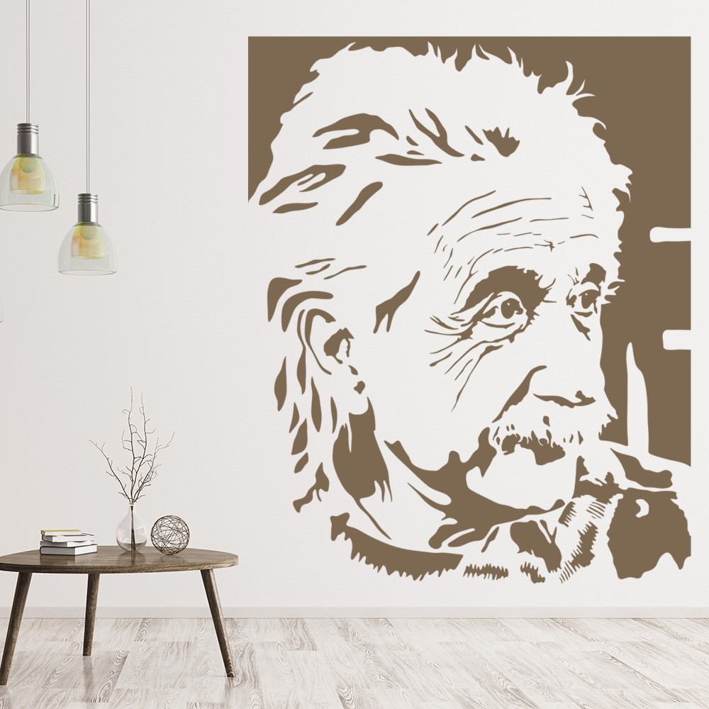 Icons celebrity wall stickers iconwallstickers albert einstein scientist icons celebrities wall stickers home decor art decal amipublicfo Image collections