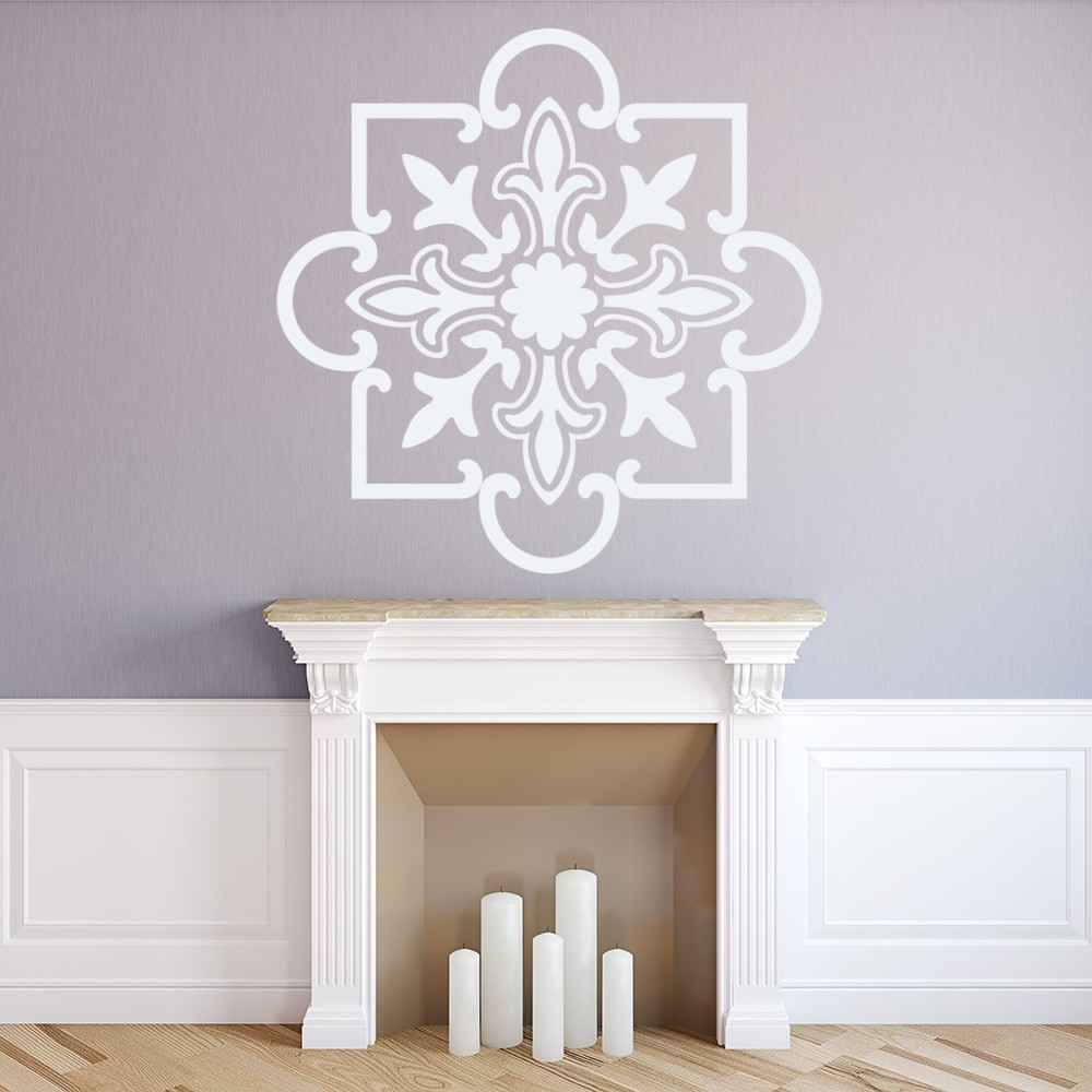 floral square wall art stickers wall decals. Black Bedroom Furniture Sets. Home Design Ideas