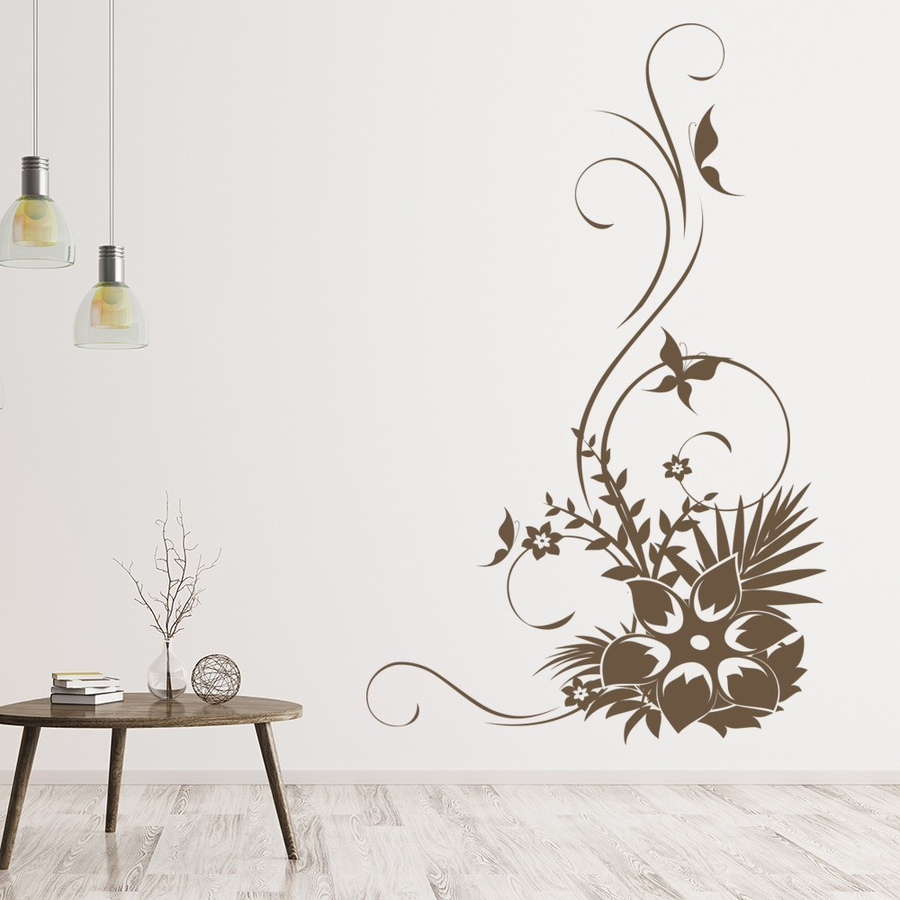 Flowers And Butterflies Flowers And Trees Wall Stickers Home Decor Art  Decals Part 59
