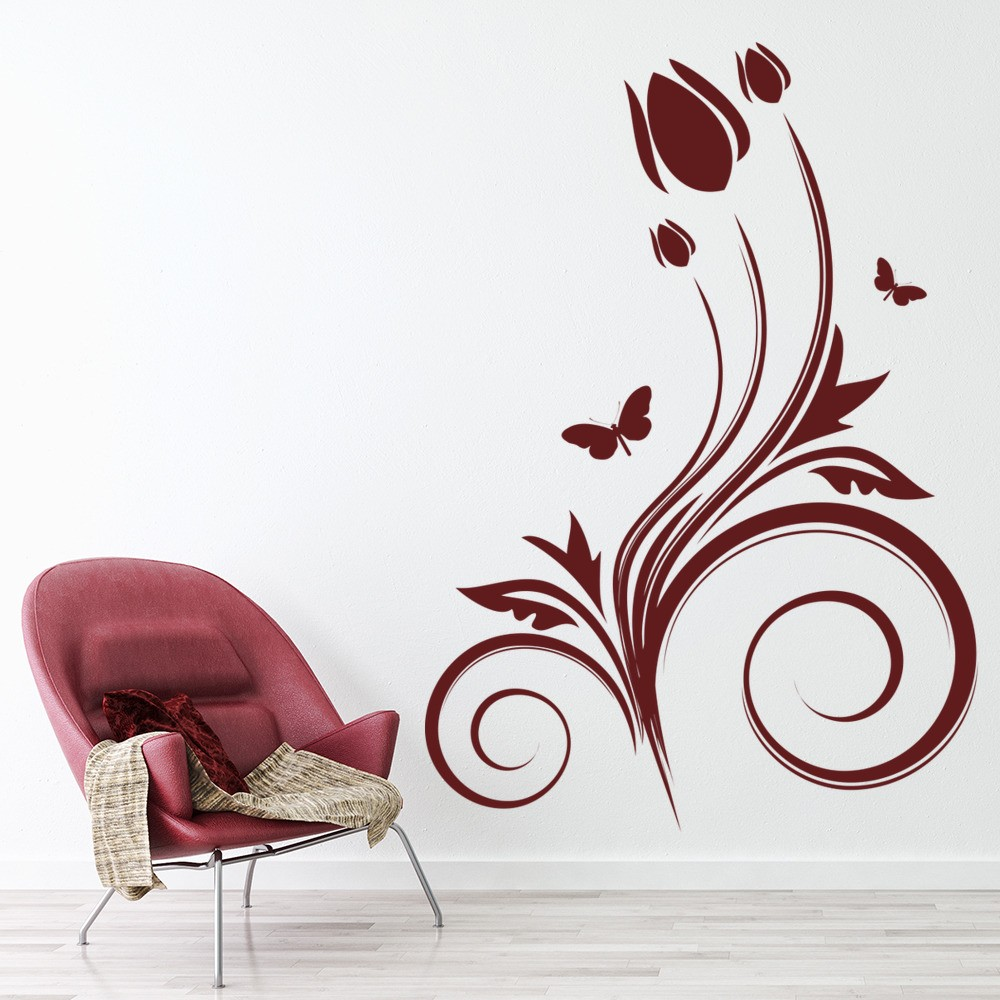 tulip border wall stickers - photo #23