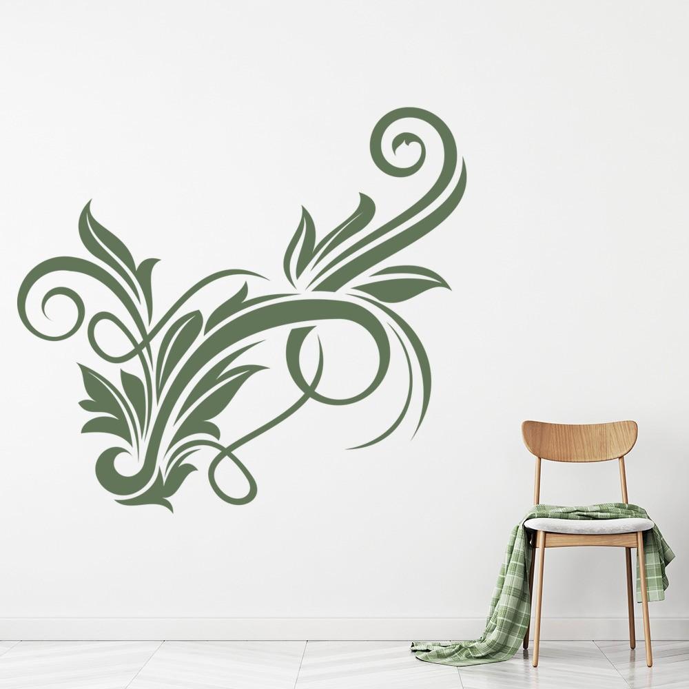 Floral Design Wall Sticker Decorative Wall Art
