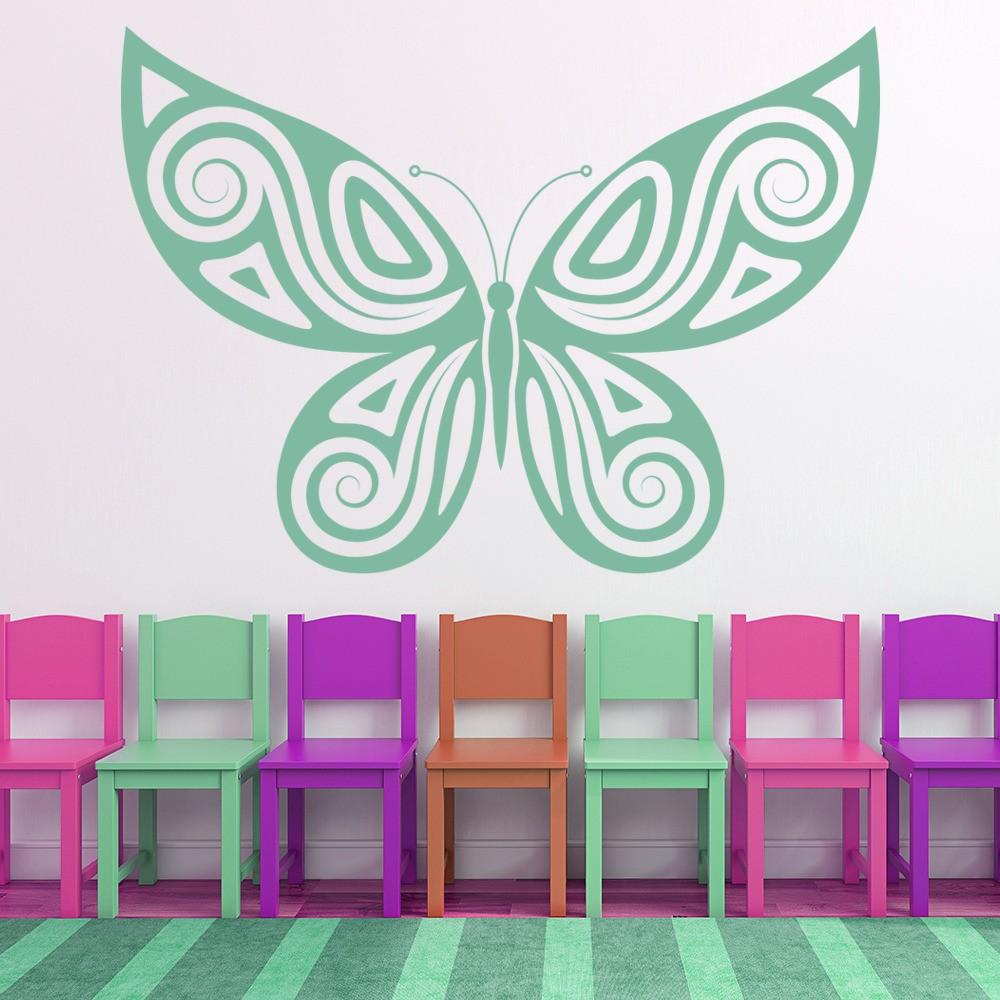 butterfly swirl butterflies wall sticker
