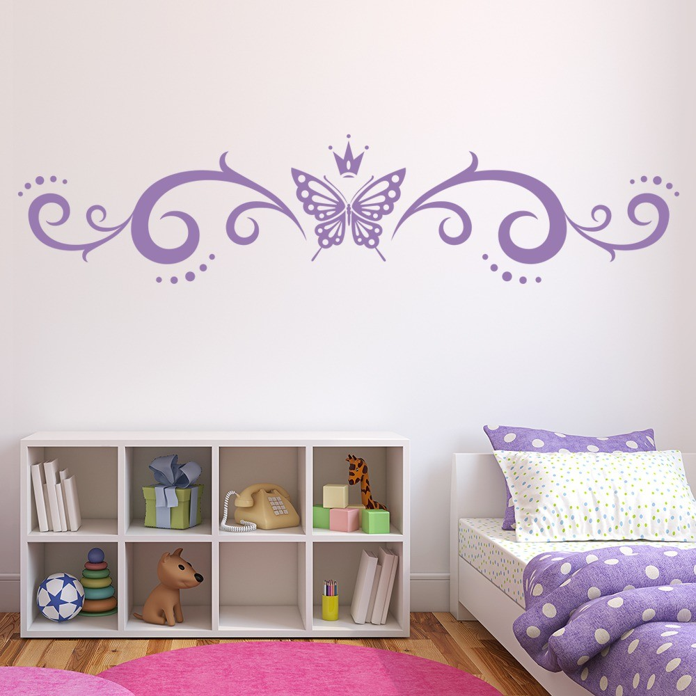 Butterfly wall stickers iconwallstickers butterfly crown banner butterflies insect wall sticker home decor art decals amipublicfo Image collections