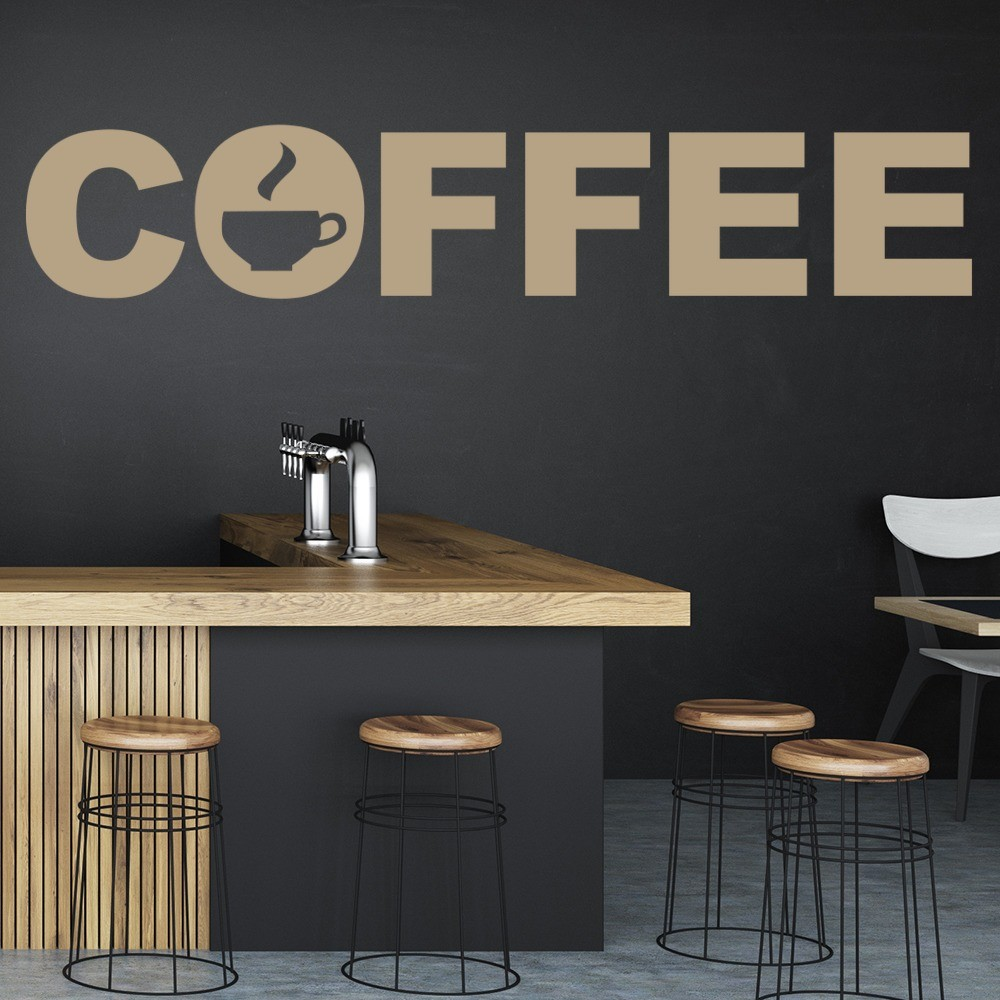 Coffee Wall Sticker Food Drink Quote Wall Decal Kitchen
