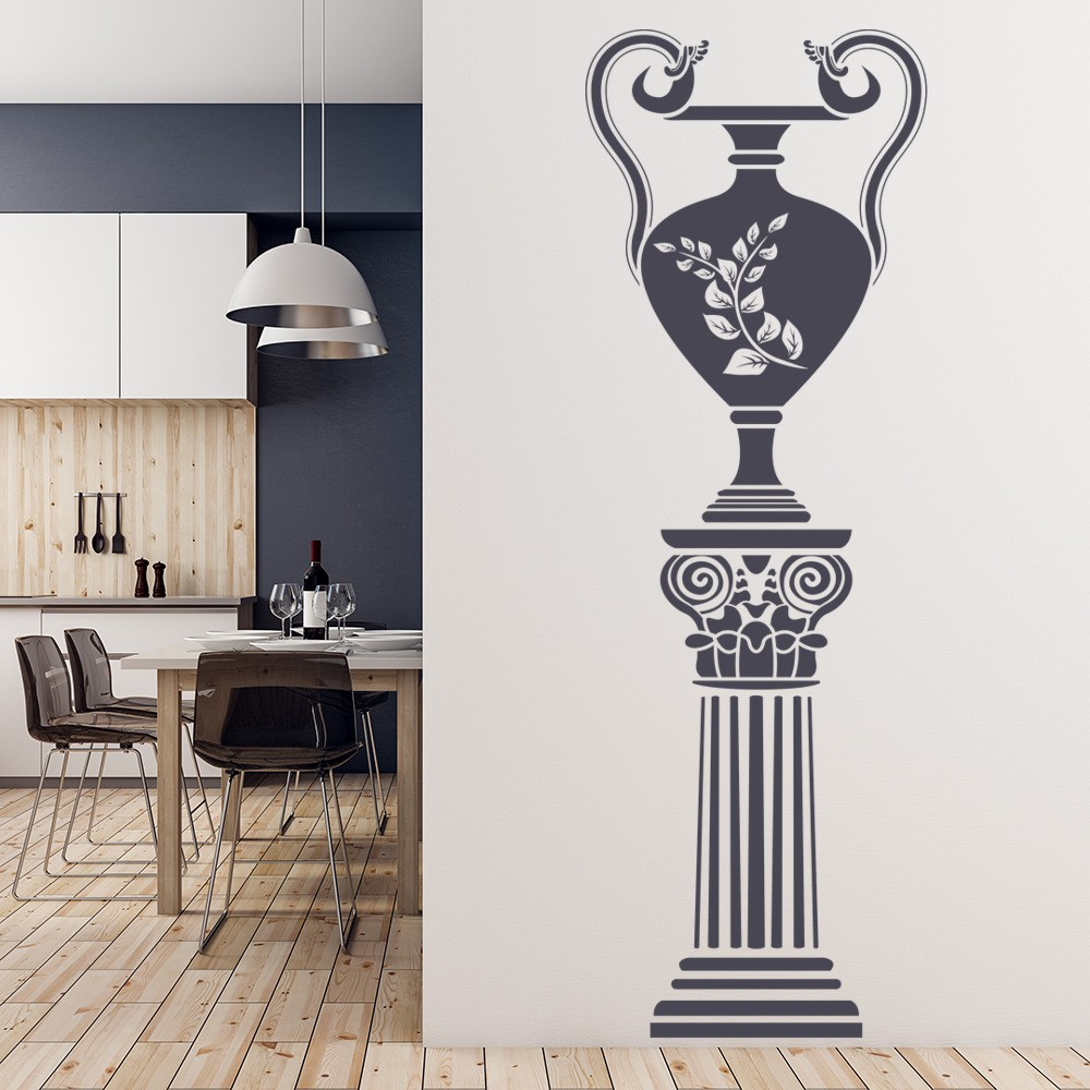 Greek Wall Sticker Grecian Vase Wall Decal School Dining