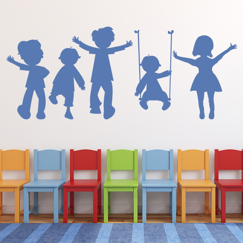 Bedroom Wall Art Uk Art For Bedroom Wall Bedroom Wall Decor For Teenagers Boy Bedroom For Baby Boy: School Playground Wall Sticker Children Playing Wall Decal Kids School Decor