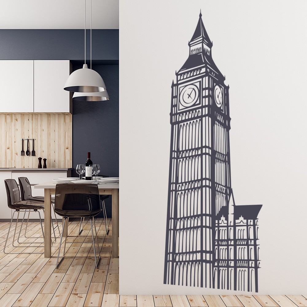 Big Ben London Landmark United Kingdom Wall Stickers Home Decor Art Decals Part 88