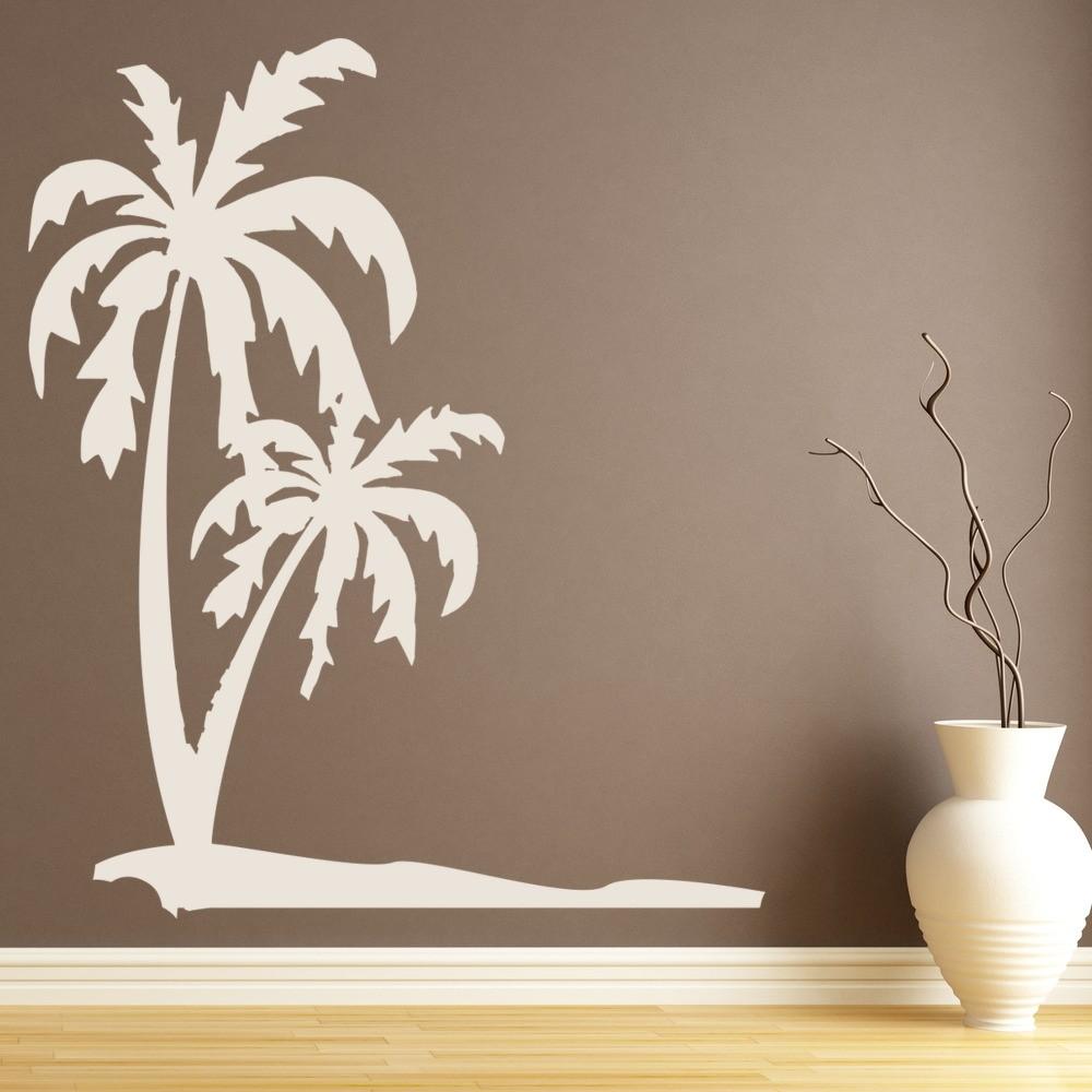 Palm Trees Tropical Beach Wall Sticker