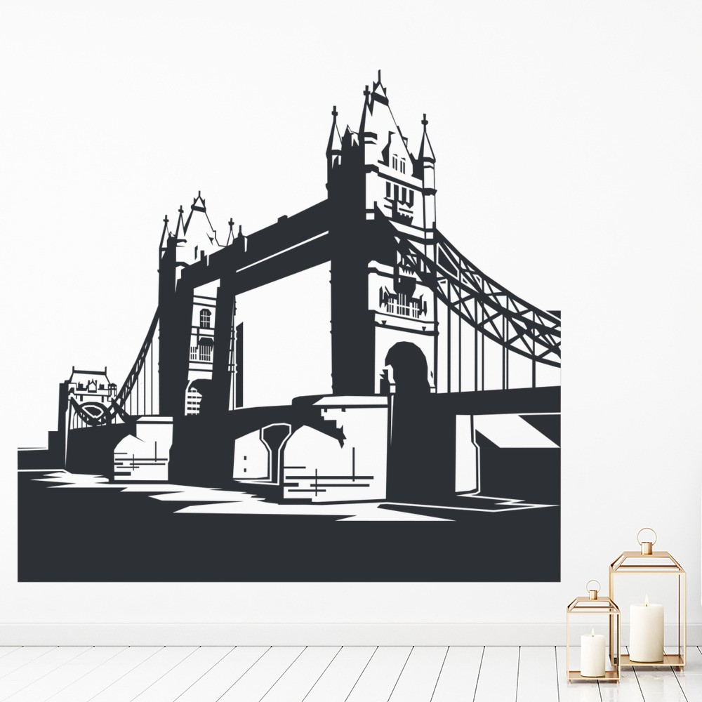 Tower Bridge Wall Sticker Scene London Landmark Wall Decal