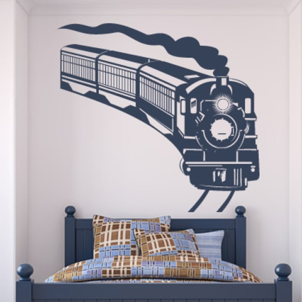Steam Train Wall Sticker Transport Wall Decal Boys Bedroom