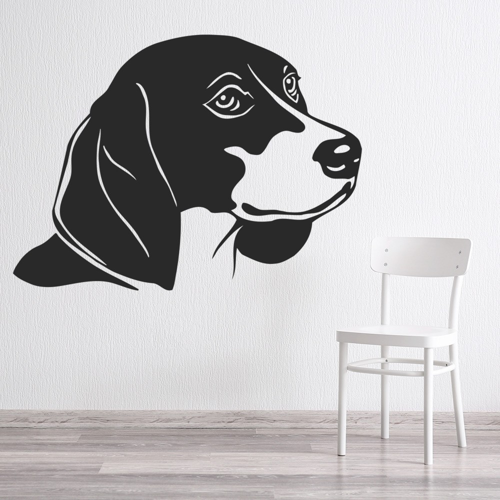 Beagle Dog Wall Sticker Animals Pets Wall Decal Canine