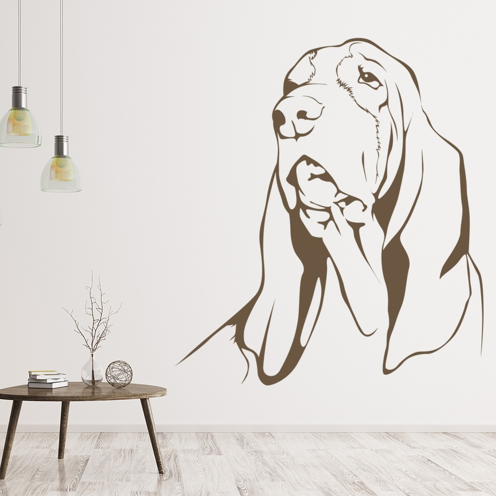 Basset Hound Dog Wall Sticker Pet Animals Wall Decal Kids Canine Home Decor