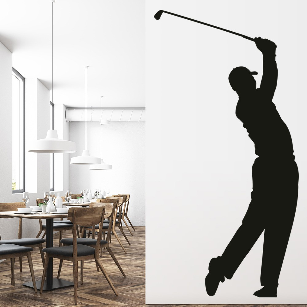Tiger Woods Wall Sticker Golf Wall Decal Sports Bedroom